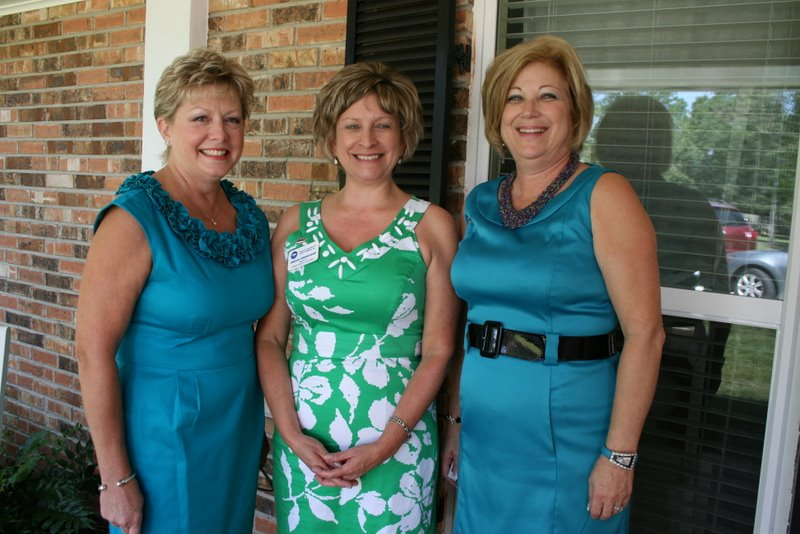 Past Presidents Ann Mannella '05-'06, CSC Jeanne Hildebrandt '07-'08, and Alison Cuveas '10-'11
