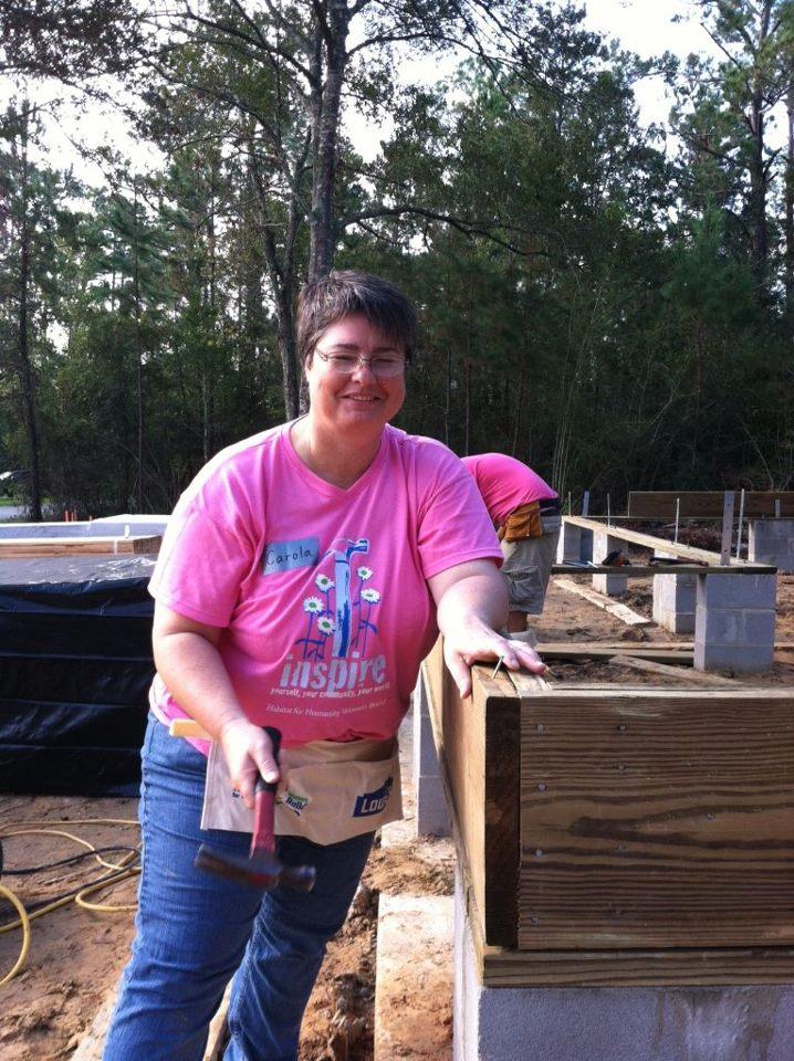 Carola Birk at Women's Build in October
