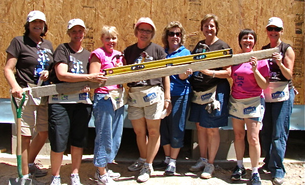 JA Sisters at Women's Build