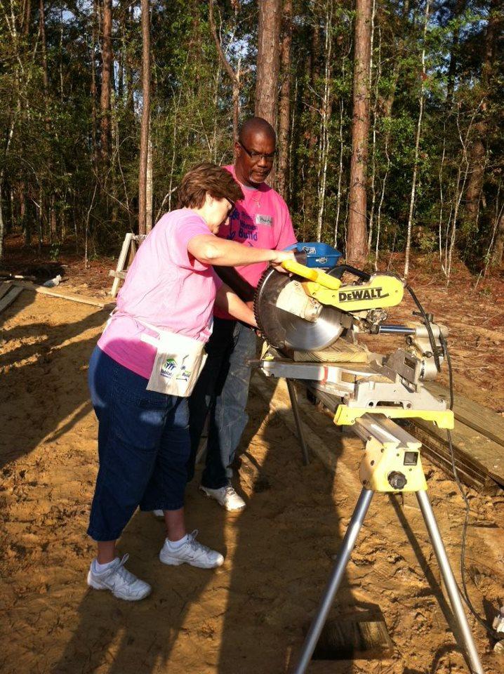 Sharon Hewitt at Women's Build in October