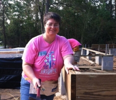 Carola Birk at Women's Build in October