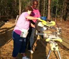 Sharon Hewitt at Women's Build in October