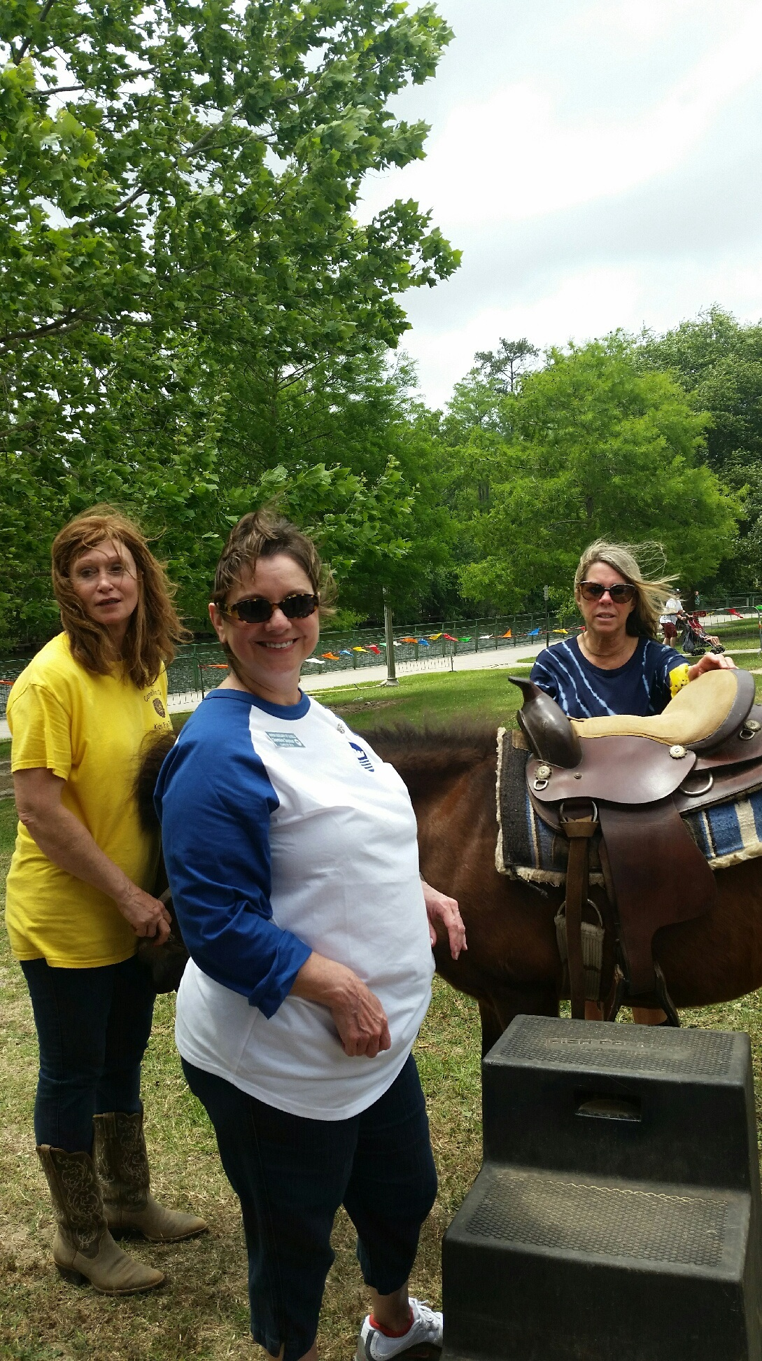 Charmaine Seymour helping with the pony rides at Kid's Fest 2017.