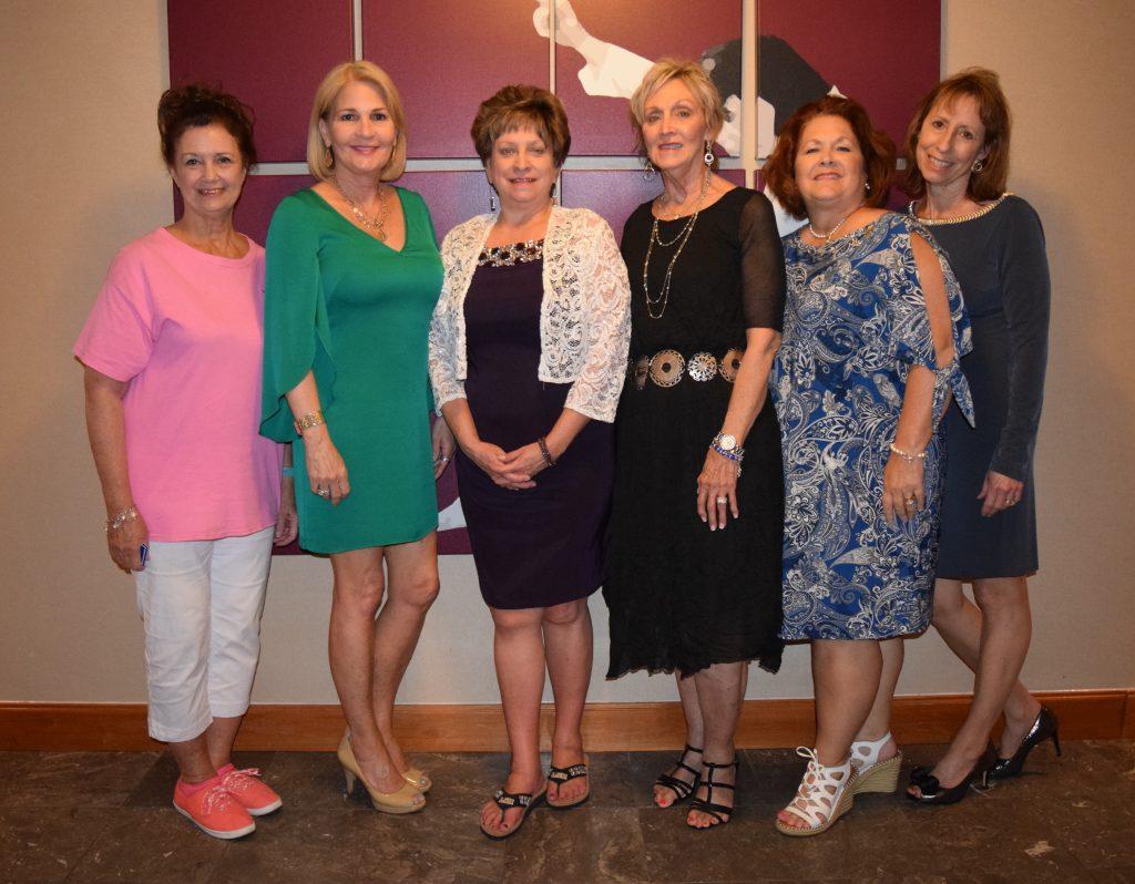 Presidents Past and Present L-R: Carol Caruso (NAJA 2006-07), Christie Stubbs (JAS 2016-17), Jeanne Hildebrandt (JAS 2007-08, NAJA 2016-17), Deb Jones (JAS 2017-18), Mary Gilmore (JAS 2014-15), Barbara Gravois (JAS 2015-16).